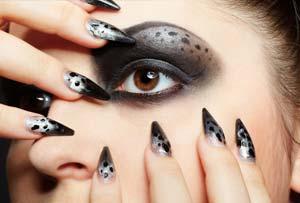 Faux ongles noir décoratifs